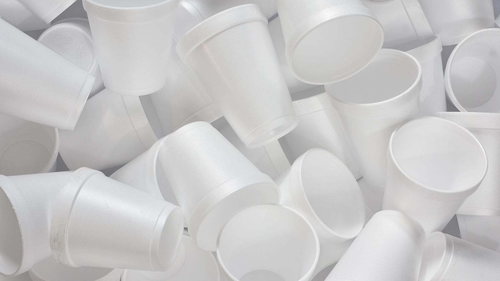<h4>We throw away millions of foam cups a year</h4><p>The U.S. Environmental Protection Agency estimates that we produce over three million tons of polystyrene every year, and Americans throw away an estimated 25 billion polystyrene cups every year, or about 82 cups per person.</p><em>Pam Walker via Shutterstock</em>